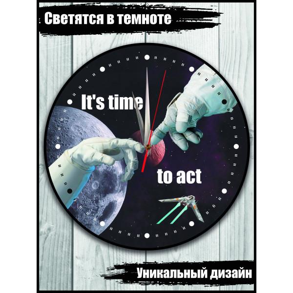 """Часы настенные """"Сотворение мира"""" космическая версия"""