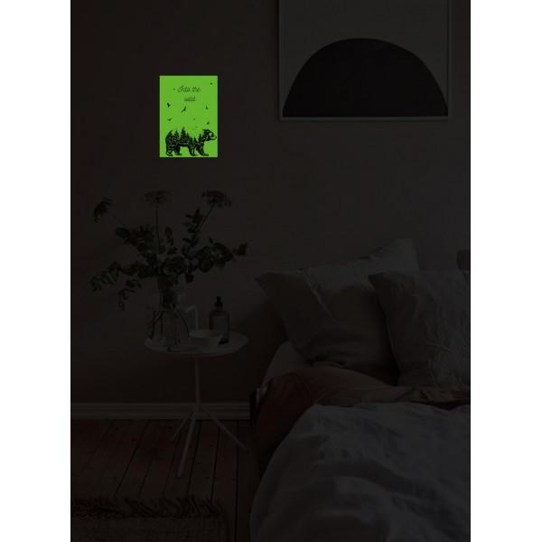 """Светящаяся табличка интерьерная """"Медведь"""""""