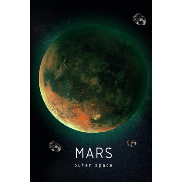 Светящаяся картина Outer Space Космическое пространство Марс