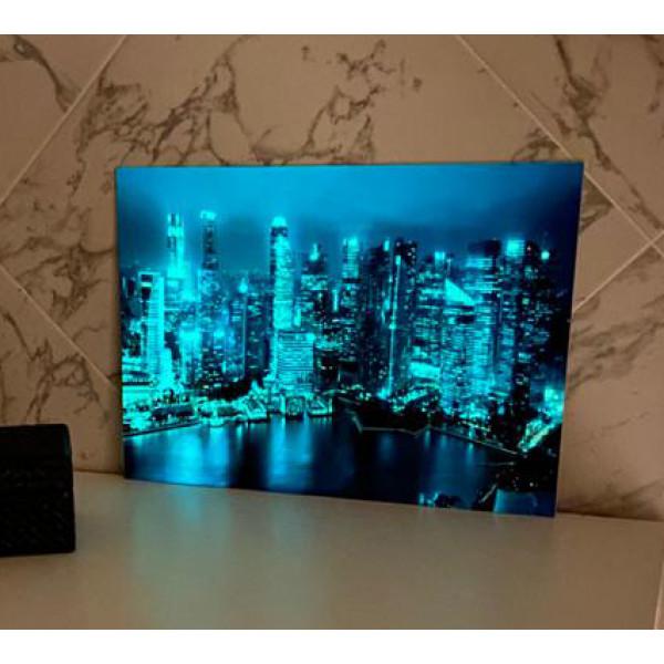 Светящаяся картина Мегаполис «Люми–Зуми» формата А3