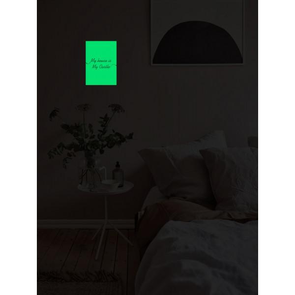 """Светящаяся табличка интерьерная """"Мой дом"""""""
