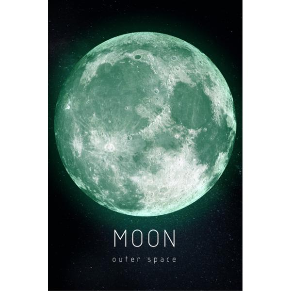 """Светящаяся картина Outer Space Космическое пространство """"Луна"""""""