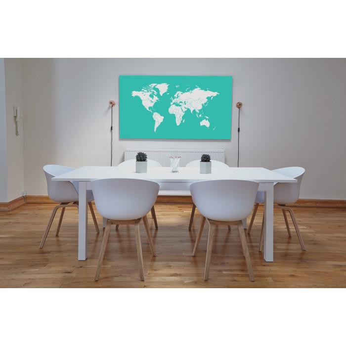 Светящаяся Карта мира «Люми-Зуми» Аквамариновая в тубусе (0,98 х 1,72 м)