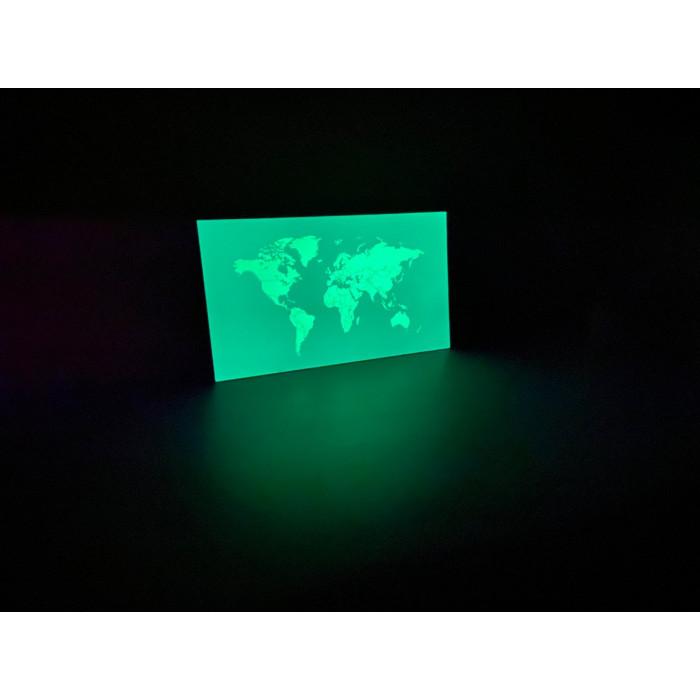 Светящаяся карта мира «Люми-Зуми» Аквамариновая формата А3