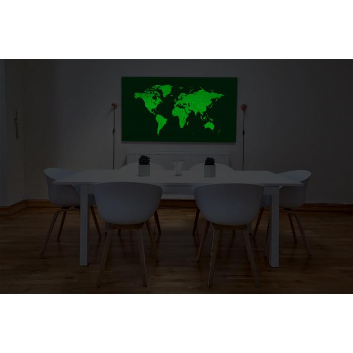 Светящаяся Карта мира «Люми-Зуми» Черная в тубусе (0,98 х 1,72 м)