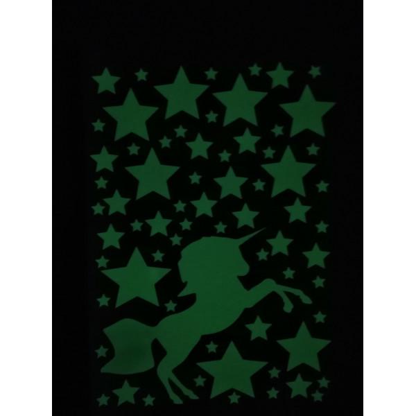 Светящаяся наклейка ночник Единорог «Люми–Зуми» формата А4