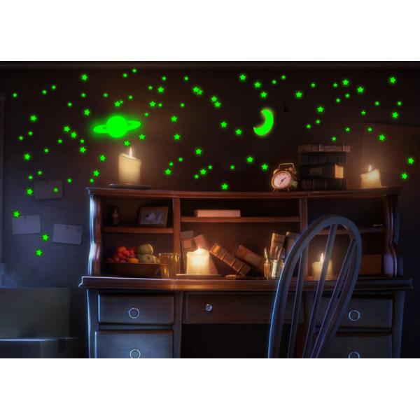 Светящаяся наклейка ночник Звездное небо «Люми–Зуми» формата А4