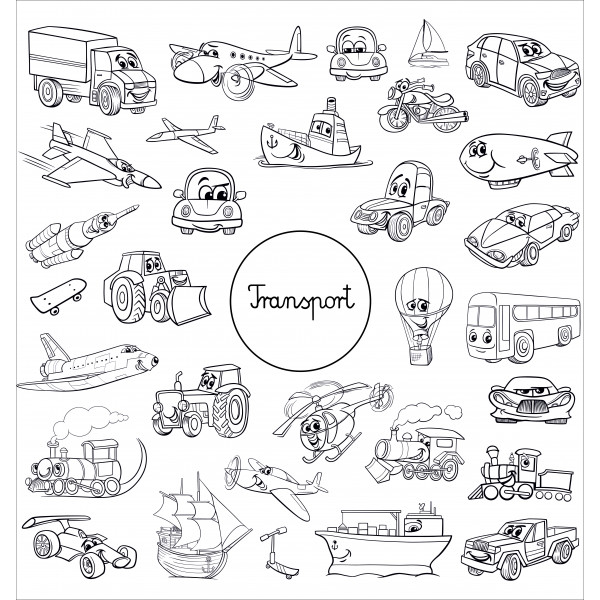 Напольная раскраска «Транспорт»